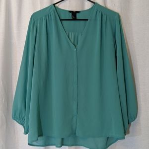 3 For $15 H&M Long Sleeve Button Down Blouse Sz 8
